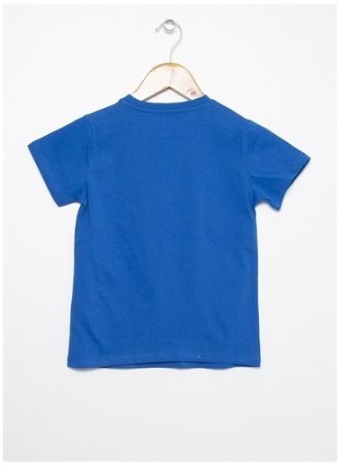 Limon Company Limon Saks Yazı Baskılı Erkek Çocuk T-Shirt Saks